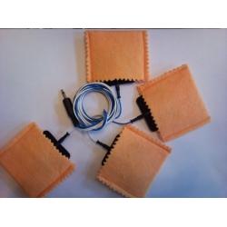 4 TENSEL elektróda köztianyag zsákkal, 4 vezetékes páciens kábellel