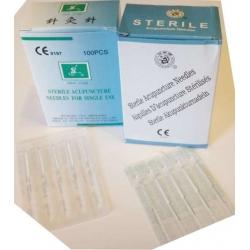 Kínai steril egyszerhasználatos ezüstözött nyelű akupunktúrás tű